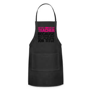 Gifted Education... Ninja Isn't an Official Job Title | White + Metallic Silver - Adjustable Apron