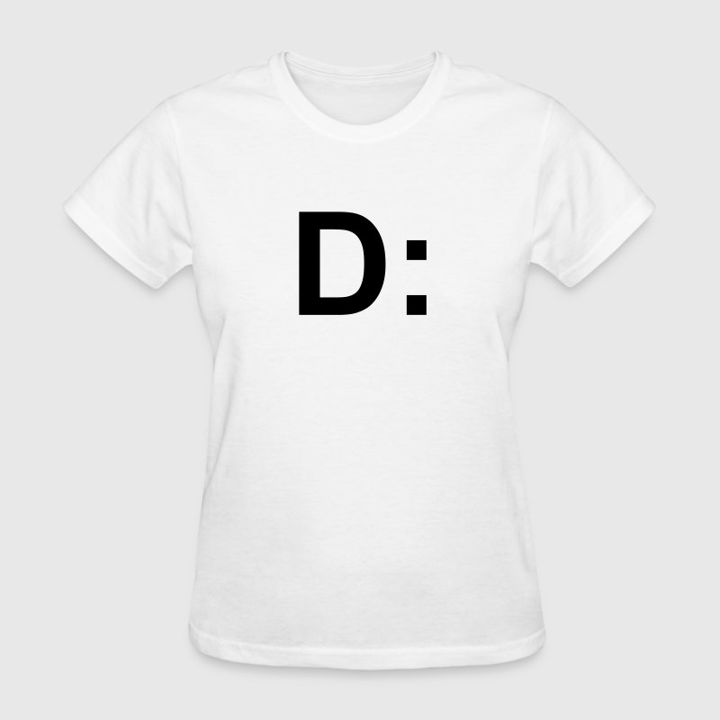 D: worried face emoticon smiley T-Shirts - Women's T-Shirt