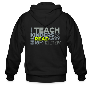 I Teach Kinders How To Read... - Men's Zip Hoodie