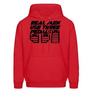 Real Men Use Three Pedals (Crewneck Sweatshirt) - Men's Hoodie