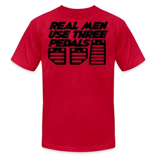 Real Men Use Three Pedals (Crewneck Sweatshirt) - Men's  Jersey T-Shirt