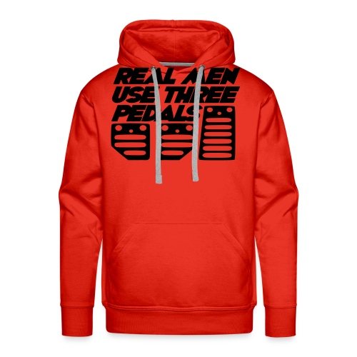Real Men Use Three Pedals (Crewneck Sweatshirt) - Men's Premium Hoodie