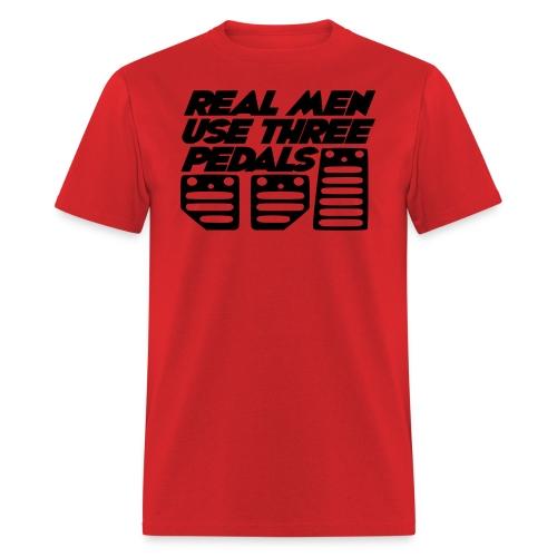 Real Men Use Three Pedals (Crewneck Sweatshirt) - Men's T-Shirt