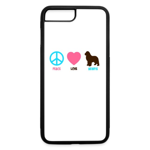 Peace Love Newfie Mug - iPhone 7 Plus/8 Plus Rubber Case