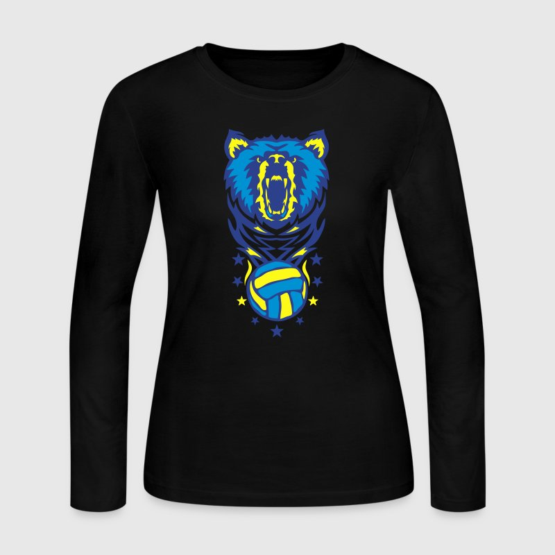 bear volleyball waterpolo club logo Long Sleeve Shirts - Women's Long Sleeve Jersey T-Shirt