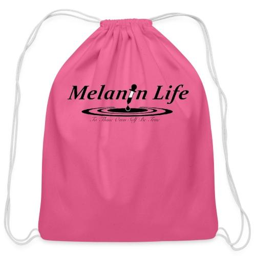 Ladies Melanin Life T shirt - Cotton Drawstring Bag