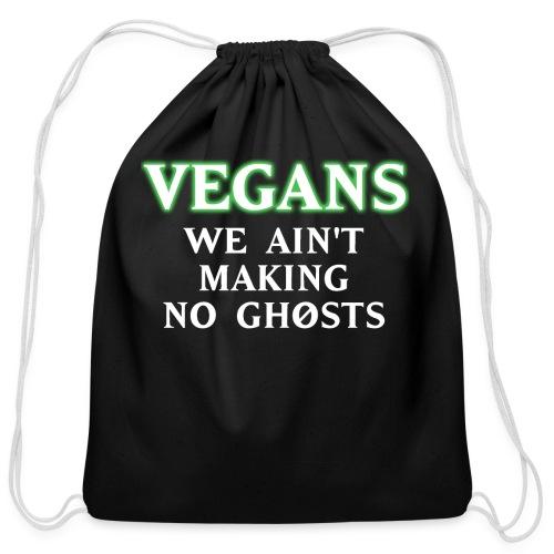 No Ghosts - Cotton Drawstring Bag