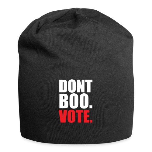 Obama Dont Boo Vote Deluxe Tee W - Jersey Beanie
