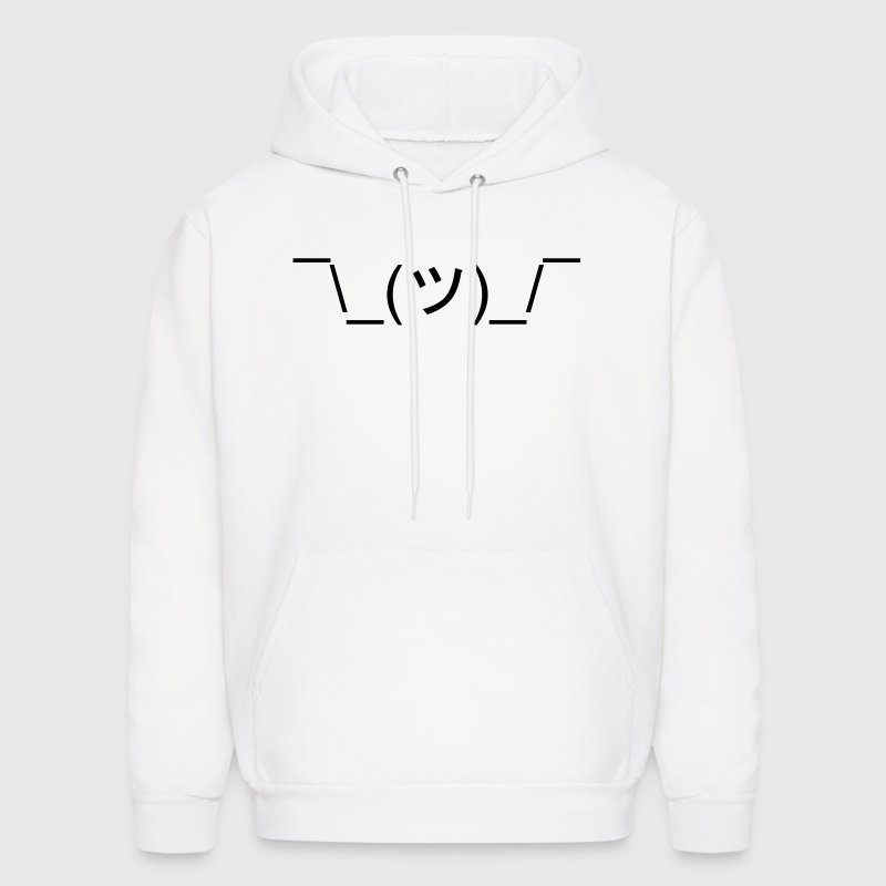 *Shrugs* (Shrug Emoticon Meme Face) Hoodies - Men's Hoodie