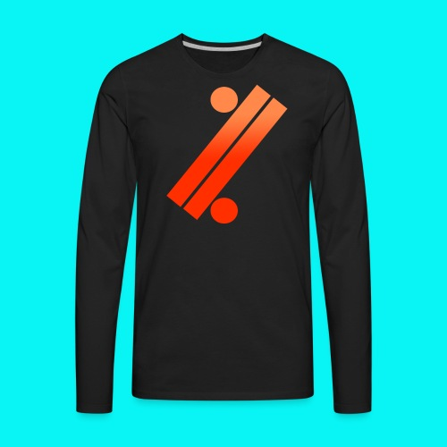 Neon Apple Tee - Men's Premium Long Sleeve T-Shirt