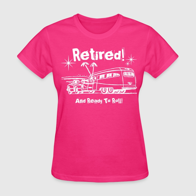 Retro Trailer Retired WHT T-Shirts - Women's T-Shirt