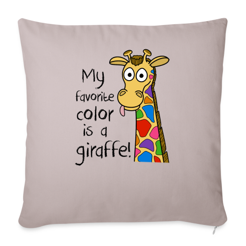 My favorite color is a.... - Throw Pillow Cover