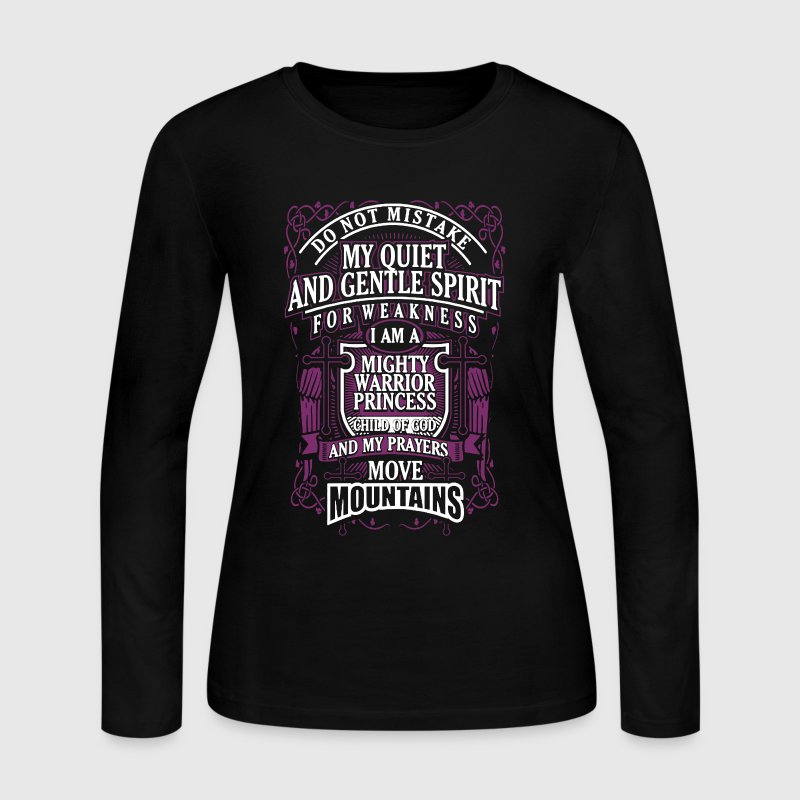 I Am A Mighty Warrior Princess - Women's Long Sleeve Jersey T-Shirt