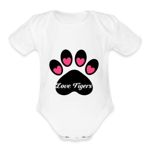 Love tiger - Organic Short Sleeve Baby Bodysuit