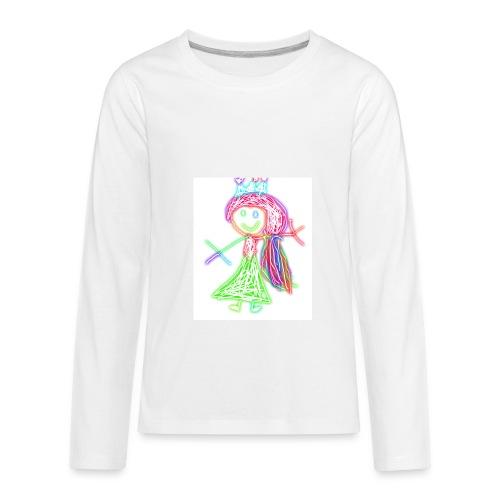 Electric Girl - Kids' Premium Long Sleeve T-Shirt