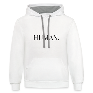 HUMAN. Women's Shirt (In-The-Middle) - Contrast Hoodie