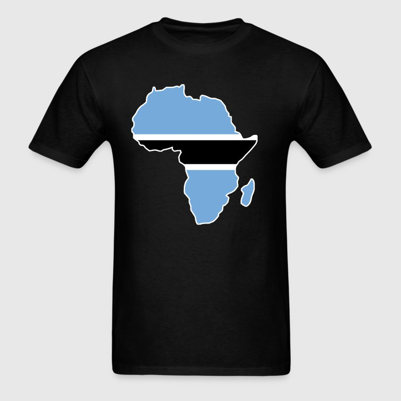 Botswana Falg In Africa Map - Men's T-Shirt