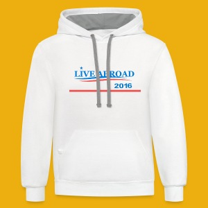 Live Abroad Male T  - Contrast Hoodie