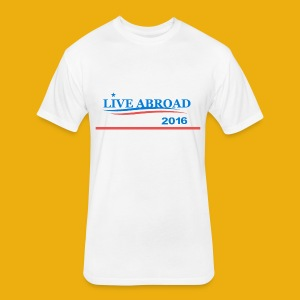 Live Abroad Male T  - Fitted Cotton/Poly T-Shirt by Next Level