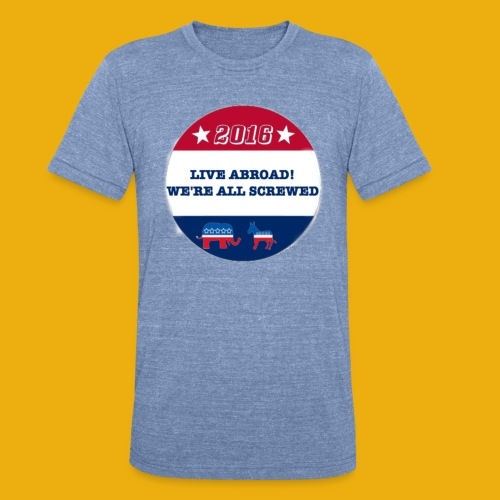 Live Abroad2 Male T - Unisex Tri-Blend T-Shirt