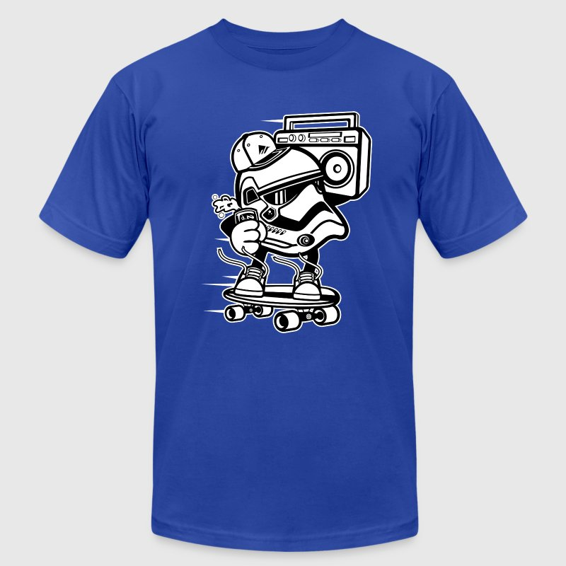 Cute Stormtrooper Skater T-Shirts - Men's T-Shirt by American Apparel