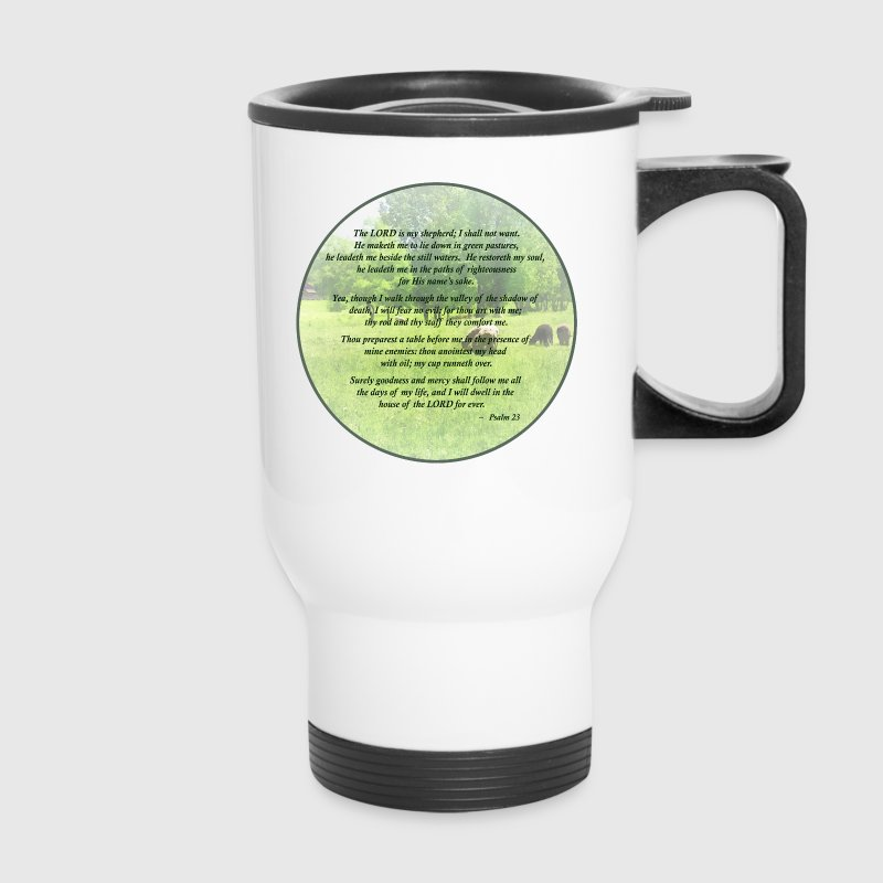 Psalm 23 The Lord Is My Shepherd Mugs & Drinkware - Travel Mug