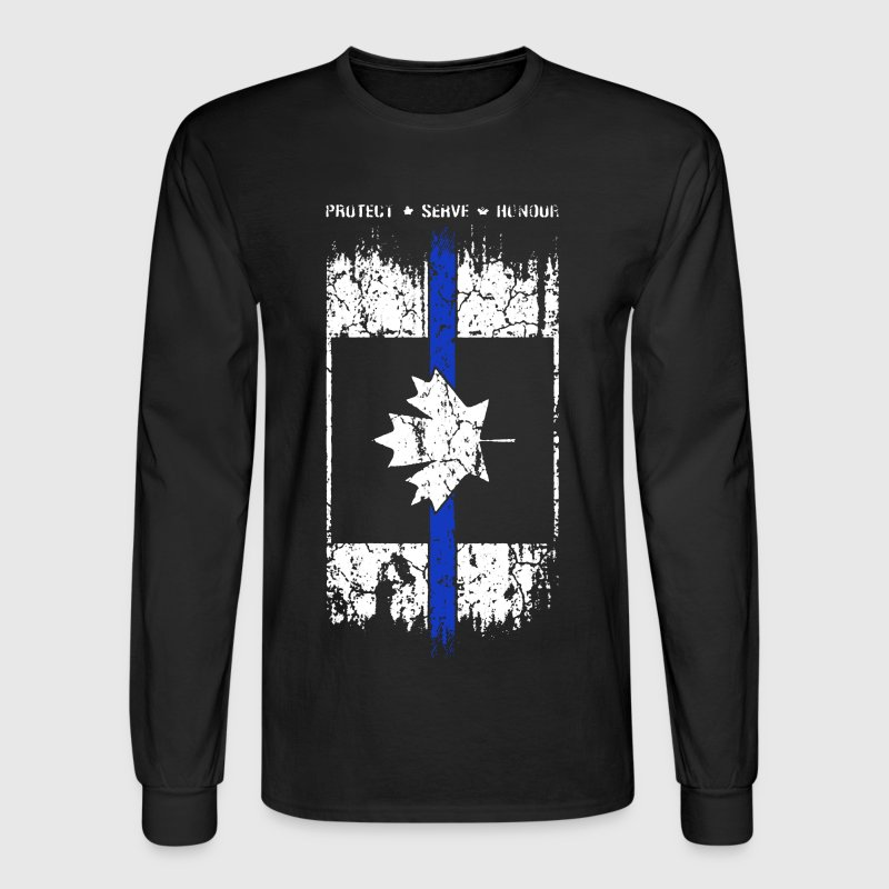 Thin Blue Line Canada - Men's Long Sleeve T-Shirt
