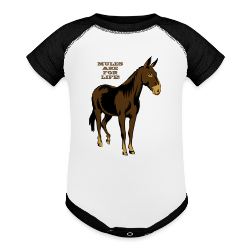 Mules Are For Life! - Kid's - Contrast Baby Bodysuit