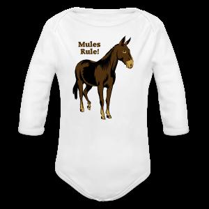 Mules Rule! - Kid's - Long Sleeve Baby Bodysuit