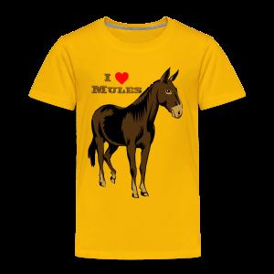 I Love Mules - Kid's - Toddler Premium T-Shirt