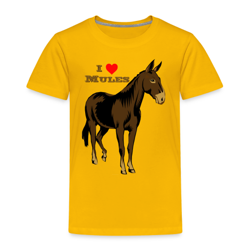I Love Mules - Kid's - Toddler Premium T-Shirt