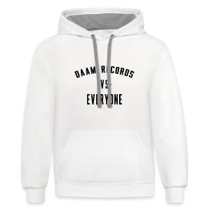 DAAM Records Vs Everyone T-shirt - Contrast Hoodie