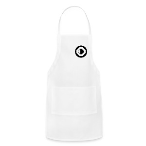 White with Black Logo - Adjustable Apron