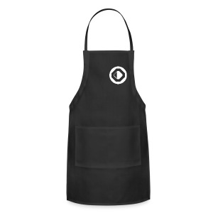 Black with White Logo - Adjustable Apron