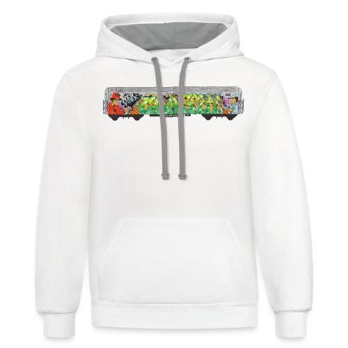 One - Design for New York Graffiti Color Logo - Contrast Hoodie