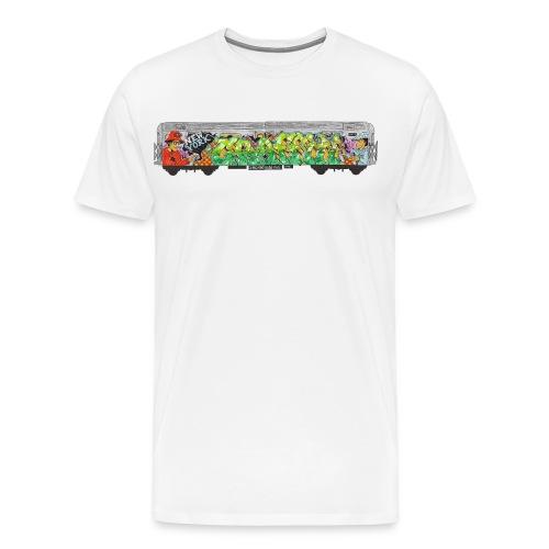 One - Design for New York Graffiti Color Logo - Men's Premium T-Shirt