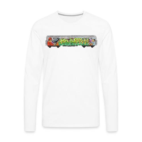 One - Design for New York Graffiti Color Logo - Men's Premium Long Sleeve T-Shirt