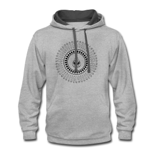 Men's 'Rain Circle' T-Shirt - Contrast Hoodie