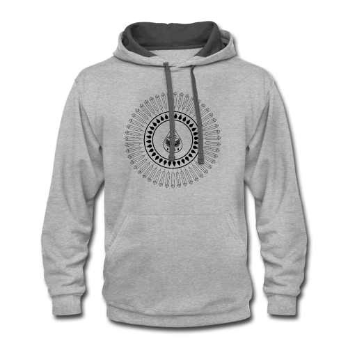 Men's 'Rain Circle' T-Shirt - Contrast Hoodie