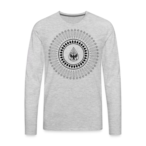 Men's 'Rain Circle' T-Shirt - Men's Premium Long Sleeve T-Shirt