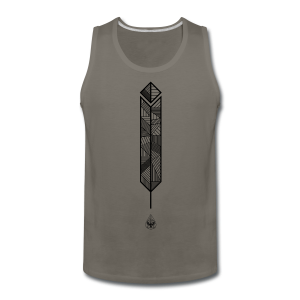 Men's 'Big Feather' T-Shirt - Men's Premium Tank