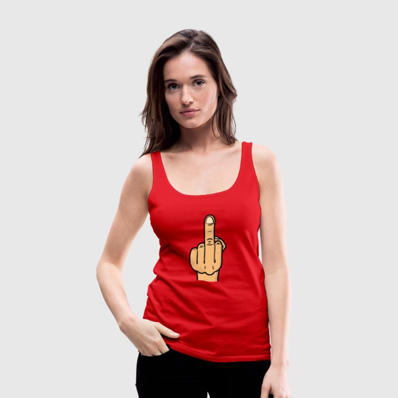 middle finger bitmap deluxe / fuck you / fock you Tanks - Women's Premium Tank Top