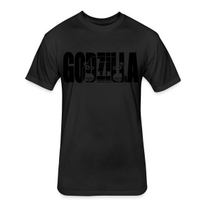 GODZILLA GTR R35 white - Fitted Cotton/Poly T-Shirt by Next Level