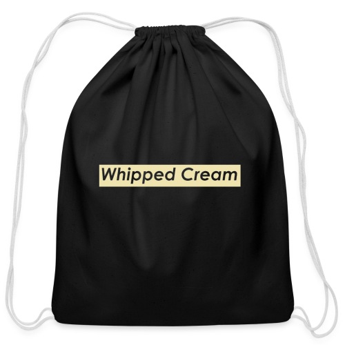 Whipped Cream - Cotton Drawstring Bag