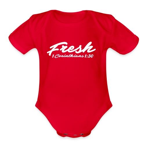 Fresh T-shirt - Organic Short Sleeve Baby Bodysuit