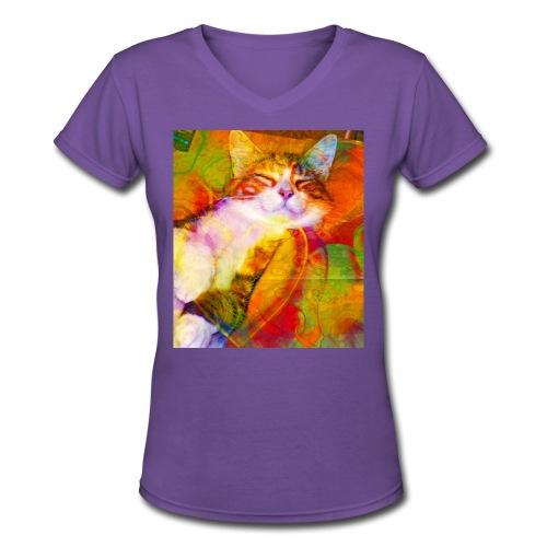 Amber Lite Brite women's premium tee - Women's V-Neck T-Shirt