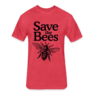 Save the Bees S-5X T-Shirt - Fitted Cotton/Poly T-Shirt by Next Level