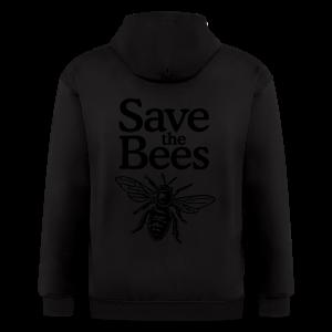 Save the Bees S-5X T-Shirt - Men's Zip Hoodie