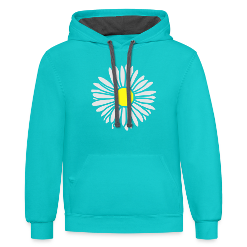Daisy (bicolor) S-3X T-Shirt - Contrast Hoodie