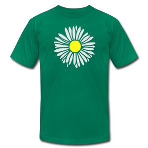 Daisy (bicolor) S-3X T-Shirt - Men's T-Shirt by American Apparel